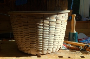 white oak bushel basket